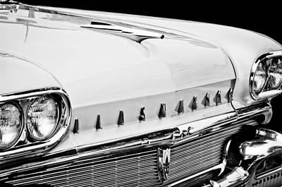 Photograph - 1958 Oldsmobile Super 88 Grille Emblems - Hood Orament by Jill Reger