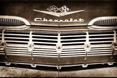 1959 Chevrolet Grille Emblem Art Print by Jill Reger