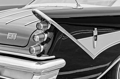 Photograph - 1959 Desoto Adventurer Convertible Tail Light Emblem by Jill Reger