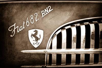 Transporter Photograph - 1959 Fiat Tipo 682 Rn-2 Transporter Emblem by Jill Reger