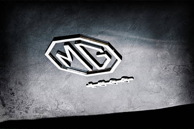 Photograph - 1959 Mg A 1600 Roadster Emblem by Jill Reger