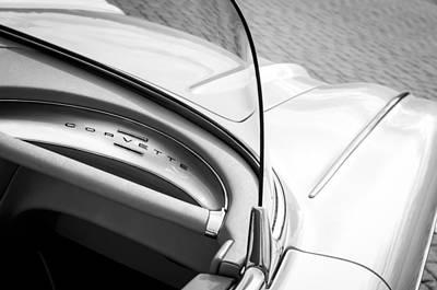 Dashboard Photograph - 1960 Chevrolet Corvette Dashboard Emblem by Jill Reger
