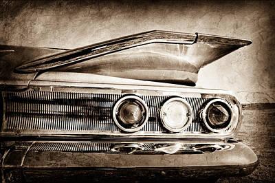 Tail Photograph - 1960 Chevrolet Impala Resto Rod Taillight by Jill Reger