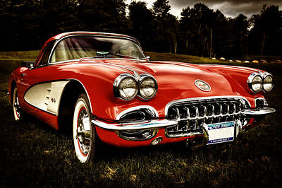 Photograph - 1960 Chevy Corvette by David Patterson