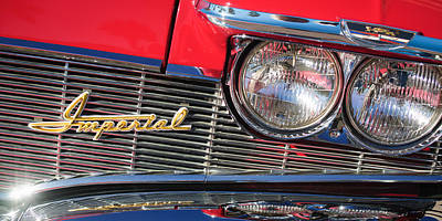 Photograph - 1960 Imperial Crown Convertible Grille Emblem by Jill Reger