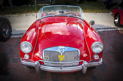 Polished Steel Photograph - 1960 Mga 1600 Convertible by Rich Franco