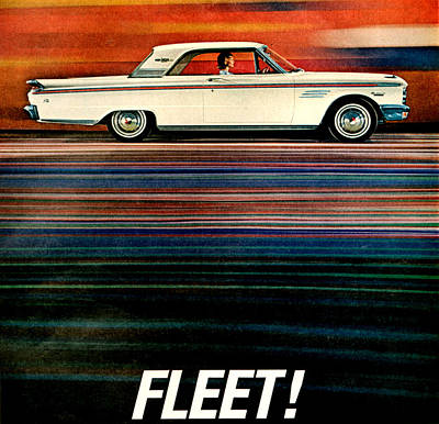 1960s Usa Mercury Magazine Advert Detail Art Print