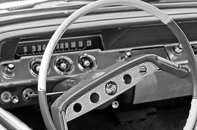 1961 Chevrolet Impala Ss Steering Wheel Emblem Art Print by Jill Reger