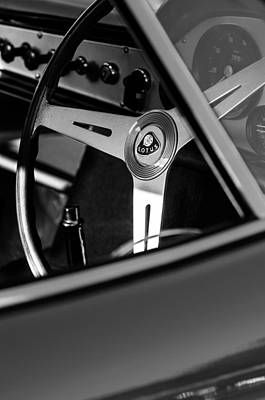 Photograph - 1961 Lotus Elite Series II Coupe Steering Wheel Emblem by Jill Reger
