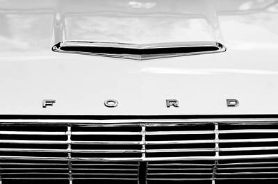 1963 Ford Falcon Futura Convertible  Hood Emblem Art Print