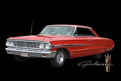 1964 Ford Galaxie 500 Art Print by Jack Pumphrey