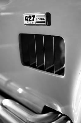 Photograph - 1965 427 Sc Cobra Reproduction Emblem by Jill Reger