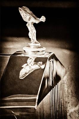 Photograph - 1965 Rolls-royce Silver Cloud IIi Continental Coupe Hood Ornament by Jill Reger
