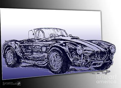 Cobra Mixed Media - 1965 Shelby Ac Cobra by J McCombie