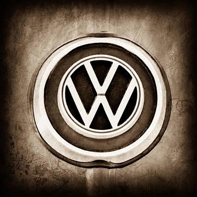Karmann Photograph - 1965 Volkswagen Vw Karmann Ghia Emblem by Jill Reger
