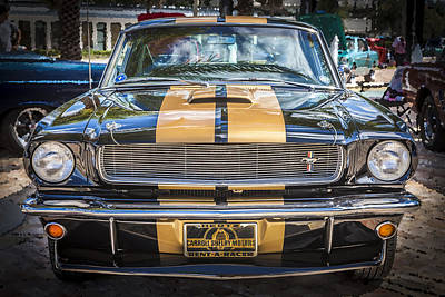 Gold Ford Photograph - 1966 Ford Shelby Mustang Hertz Edition  by Rich Franco