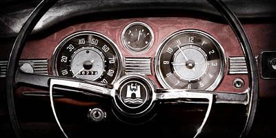 1966 Volkswagen Vw Karmann Ghia Steering Wheel Art Print