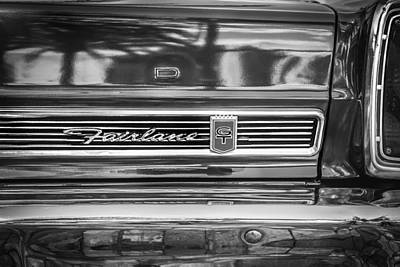1967 Ford Fairlane 500xl Bw Art Print