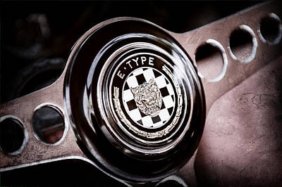 1967 Jaguar E-type Series I 4.2 Roadster Steering Wheel Emblem Art Print