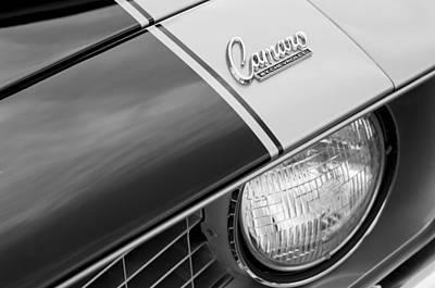 1969 Chevrolet Camaro Z-28 Emblem Art Print by Jill Reger
