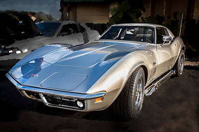 Custom Grill Photograph - 1969 Chevrolet Corvette 427 by Rich Franco