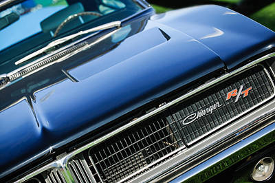 Photograph - 1969 Dodge Charger R-t Emblem by Jill Reger