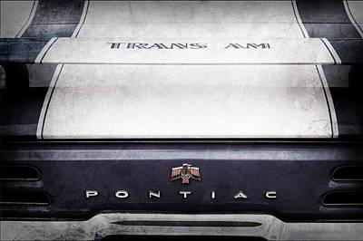 Tail Fin Photograph - 1969 Pontiac Trans Am Tail Fin Emblem by Jill Reger