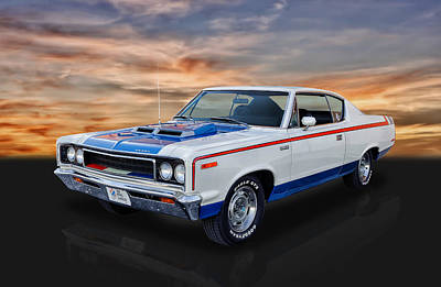 Photograph - 1970 Amc Rebel Machine by Frank J Benz