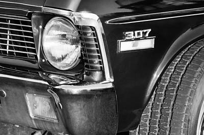 1970 Chevrolet Nova Headlight Emblem Print by Jill Reger