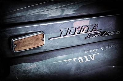 Photograph - 1970 Toyota Land Cruiser Fj40 Hardtop Emblem -0700ac by Jill Reger