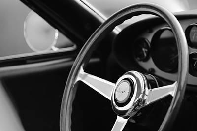 1971 Ferrari Dino 246 Gt Steering Wheel Emblem Art Print by Jill Reger
