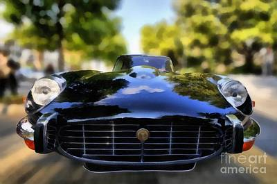 Collectible Painting - 1971 Jaguar E Type V12 Coupe by George Atsametakis