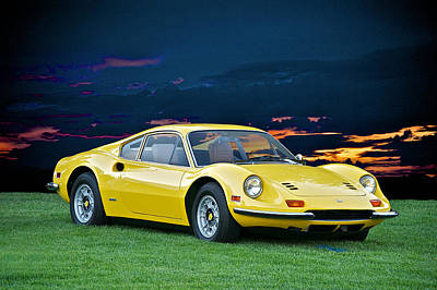 Sean Rights Managed Images - 1972 Ferrari Dino 246 GT Royalty-Free Image by Dave Koontz