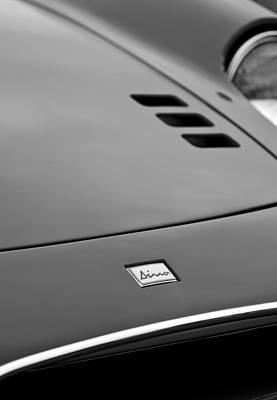 1974 Photograph - 1974 Ferrari Dino 246gts Hood Emblem by Jill Reger