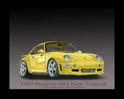 1997 Painting - 1997 Porsche  993 Twin Turbo by Jack Pumphrey