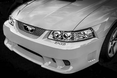 Photograph - 1999 Ford Saleen Mustang Bw by Rich Franco