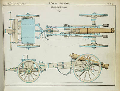 19th Century German Artillery Piece Art Print by British Library