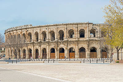 Photograph - 1st Century Bc Roman Amphitheatre In Nimes France by Marek Poplawski