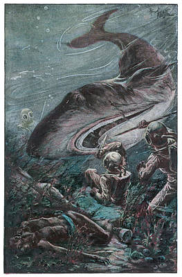'20,000 Lieues Sous Les Mers' [20 000 Art Print by Mary Evans Picture Library