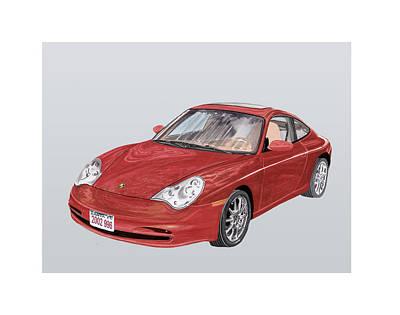 2002 Porsche 996  Art Print by Jack Pumphrey