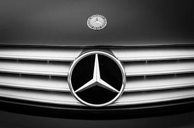 Photograph - 2003 Mercedes-benz Cl Grille Emblem by Jill Reger