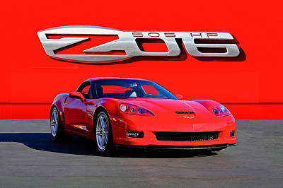 Recently Sold - Sports Royalty-Free and Rights-Managed Images - 2006 Corvette Z06 427 by Dave Koontz