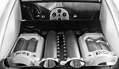 Photograph - 2008 Bugatti Veyron Engine by Jill Reger