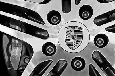 2008 Porsche Turbo Cabriolet Wheel Rim Art Print by Jill Reger