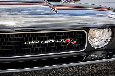2011 Dodge Challenger Rt Black Art Print by Rich Franco