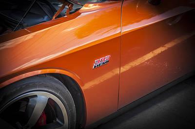 2011 Dodge Challenger Srt8 Hemi Bw  Art Print