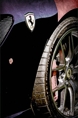 Ferrari Gto Photograph - 2011 Ferrari 599 Gto Emblem - Wheel by Jill Reger