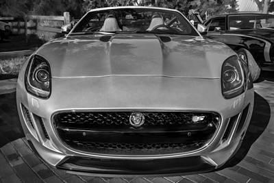 Jaguar F-type Photograph - 2014 Jaguar F Type V8 Convertible Painted Bw  by Rich Franco
