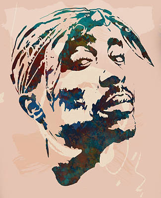 2pac Tupac Shakur Stylised Pop Art Poster Art Print