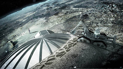 3d Printed Lunar Base Art Print by Esa/foster + Partners